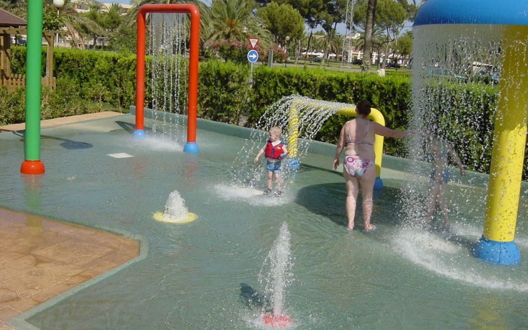 La diversión y el agua se juntan en las zonas splash